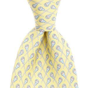 Vineyard Vines Lacrosse Print Silk Tie